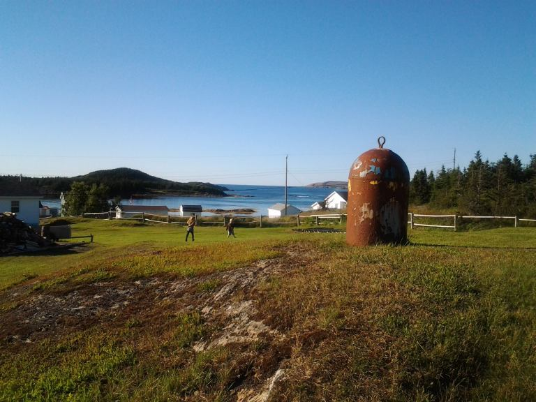 The hump in the garden. Island Harbour, Fogo Island