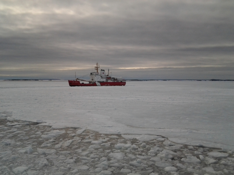 Icebreaker waiting until she's needed again, March 2014