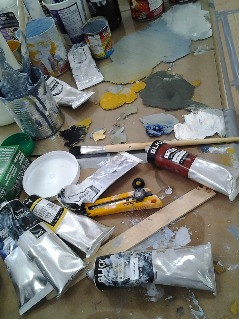 Tools of the trade. Fogo Island Painting Project is underway.