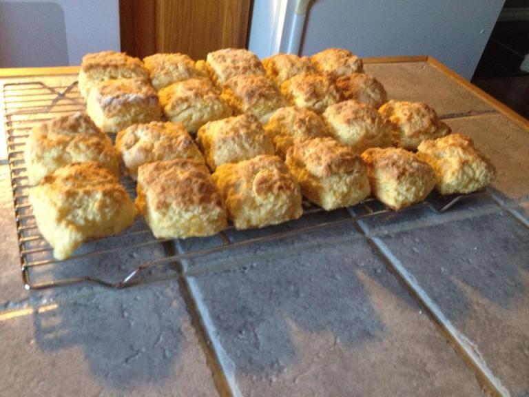 Orange scones.