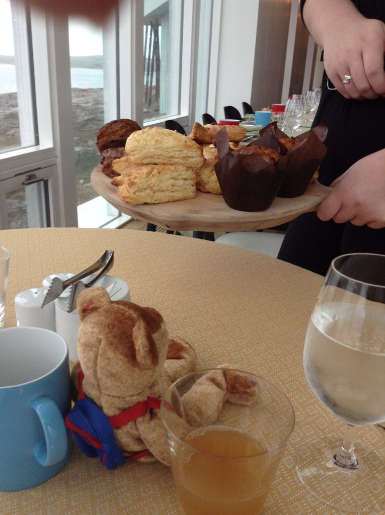 Bear sized muffins and pastries.