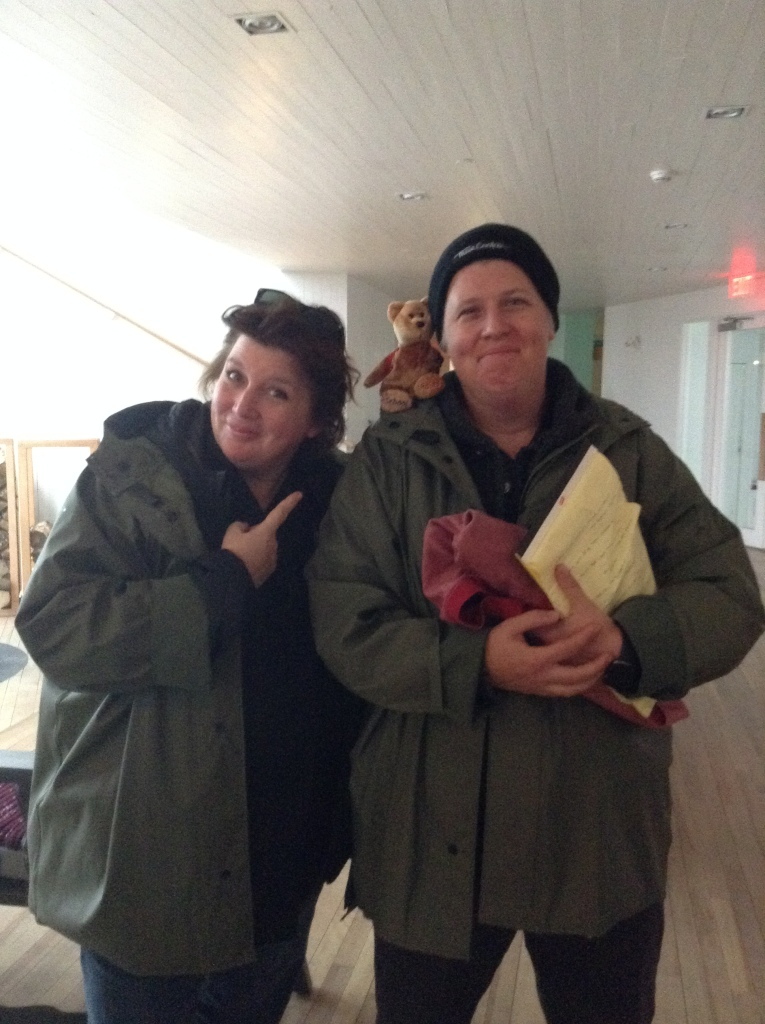 Chefs Lynn Crawford and Chef Lora Kirk came from their restaurant in Toronto just go cook at the Fogo Island Inn for the weekend. Their restaurant is called Ruby Watchoo. I love that name!